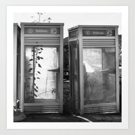 Phone booths Art Print