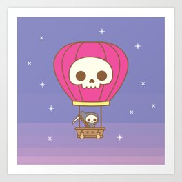 Hot Air Balloon Rides with the Reaper Art Print
