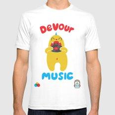 Devour Music Mens Fitted Tee White MEDIUM