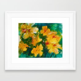 Party Pansies Framed Art Print