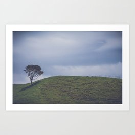 NEW ZEALAND ROADTRIP CLASSIC LANDSCAPE VIEW Art Print