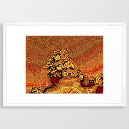 Abstract lava flow Framed Art Print