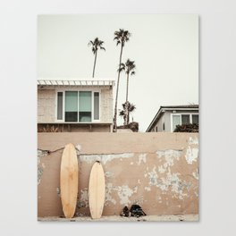 San Diego Surfing Canvas Print