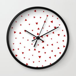 Red Triangle Pattern Wall Clock