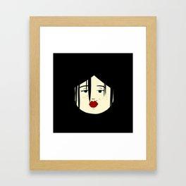 gothic girrrl Framed Art Print