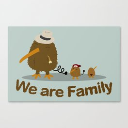 The Kiwi's Family Canvas Print
