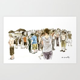 After it rained at McCarren Pool, we stopped and stared. I wish the moment lasted forever. Art Print