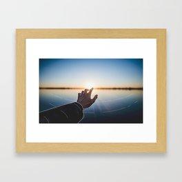 Line Sunset Framed Art Print