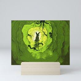 Rabbit hole Mini Art Print