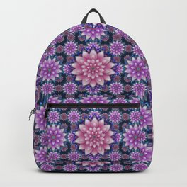 Embroidered pink & purple Backpack