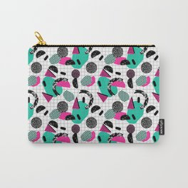 Cha Ching - abstract throwback memphis retro 80s 90s pop art grid shapes Carry-All Pouch