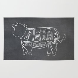 Beef Butcher Diagram (Cow Meat Chart) Rug