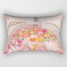 Flower Bath 7 Rectangular Pillow