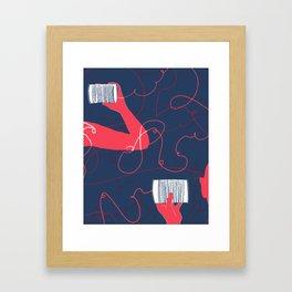 can you still hear me? Framed Art Print