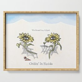 Chillin' in Florida Serving Tray