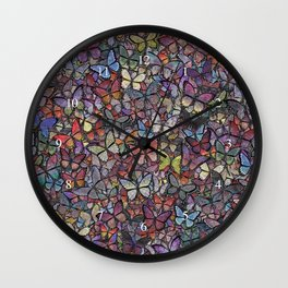butterfly kaleidoscope Wall Clock