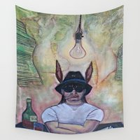 jack Wall Tapestries featuring JACK! by Krista Moros