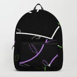 Jagged leaves, genderqueer pride flag Backpack