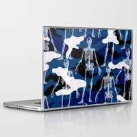 skeleton Laptop & iPad Skins featuring SKELETON by DIVIDUS