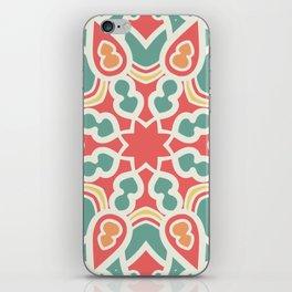 Red and green mandala pattern iPhone Skin