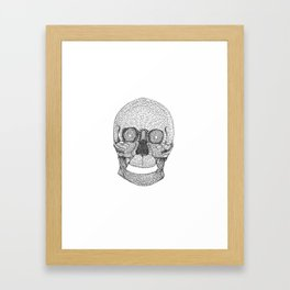 Mosaic Skull Framed Art Print