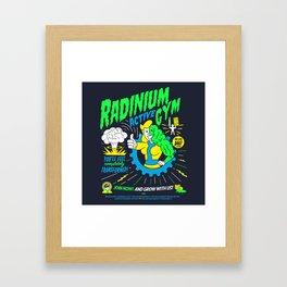 Radinium Gym - Fitness - Gym - Funny - Illustration - Nuclear Framed Art Print