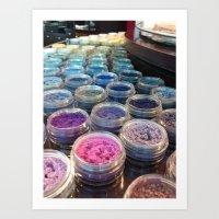 makeup Art Prints featuring makeup by Aliina Ross