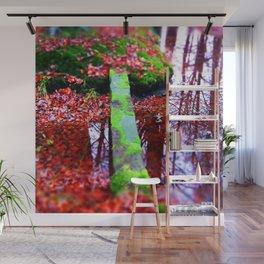 Foot Bridge in Autumn Wall Mural