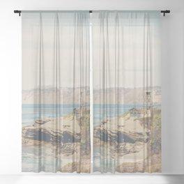 La Jolla photograph Sheer Curtain