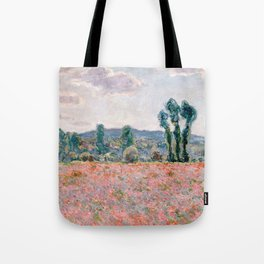 Poppy Field in Giverny by Claude Monet Tote Bag