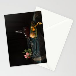 Orange and roses still life Stationery Cards
