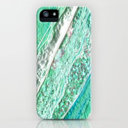 Green Crystal Ⅲ iPhone Case