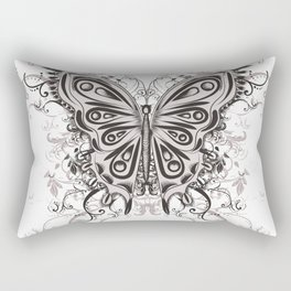 Beautiful filigree butterfly with flowers Rectangular Pillow