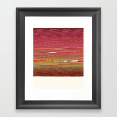99 (Polaroid Glitch) Framed Art Print