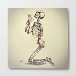 carry this b u r d e n now until the m o m e n t of your last breath Metal Print