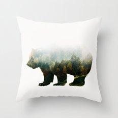 Colorado Forest Bear Throw Pillow