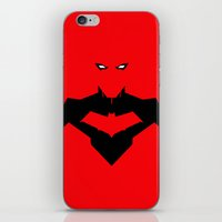 red hood iPhone & iPod Skins featuring RED RED HOOD by Jeremy Campos