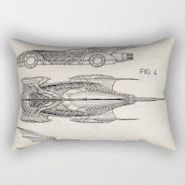 Batmobile Patent - Bat Mobile Art - Antique Rectangular Pillow