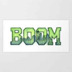 Legion of Boom Seattle 12th Man Art Art Print