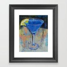 Royal Blue Martini Framed Art Print