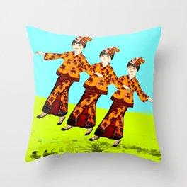 Free Spirits 2 Throw Pillow