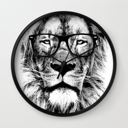 The King Lion of the Library Wall Clock