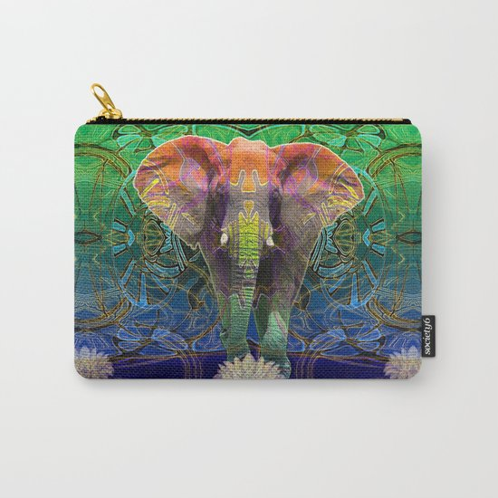 Wandering Elephant Carry-All Pouch