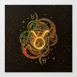 Taurus Zodiac Sign Earth element Canvas Print