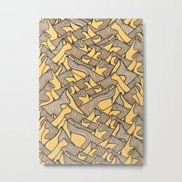 The pale yellow peaks Metal Print