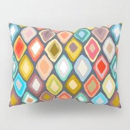Almas diamond ikat dark Pillow Sham