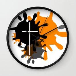 Cross Splash Wall Clock