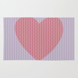 Heart Overload Valentine Issues Rug