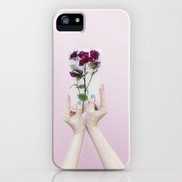 frozen flowers iPhone Case