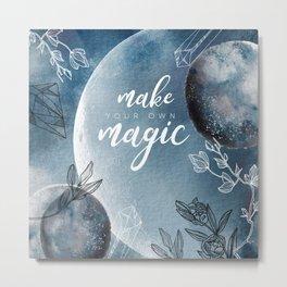 Mysterious Luna #3: Make your own magic Metal Print